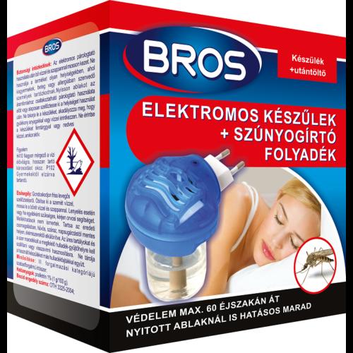 Bros Szúnyogirtó elektromos készülék + folyadék  12/#